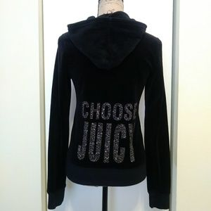 "Juicy Couture ""Choose Juicy"" Velour Jacket Large"